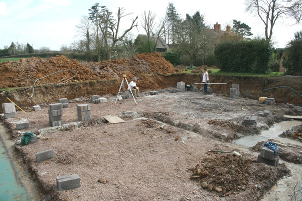 May 2008 – The Footing & Slab Are Laid