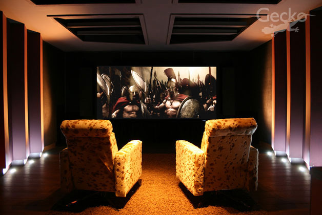 Cinema Room 2 – As Designed by Rives Audio Now Containing MK 300 7.8 System and 4k Projection System